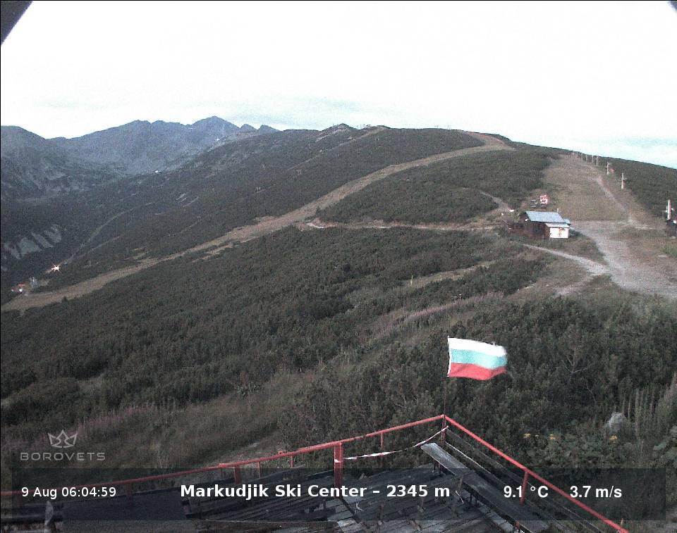 Borovets, the mountain views from the ski centre markudjik Live cam, Bulgaria